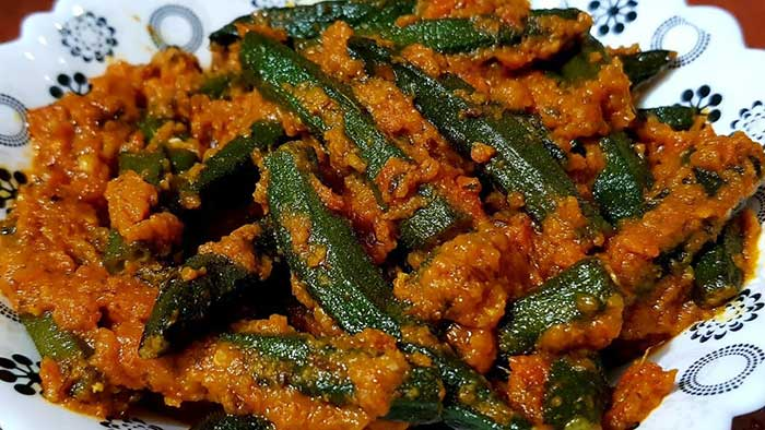 tawa masala bhindi