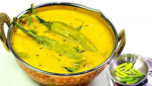 Green Chilli Kadhi Recipe