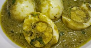 Green Egg Masala