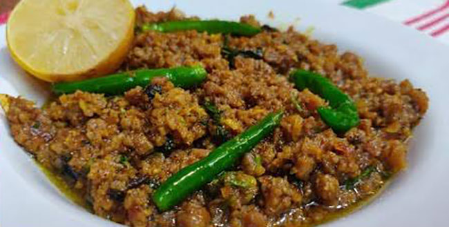 Lemon Black Pepper Mutton Keema