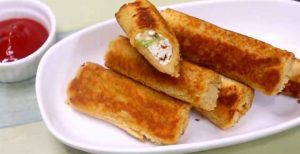 bread paneer roll recipe