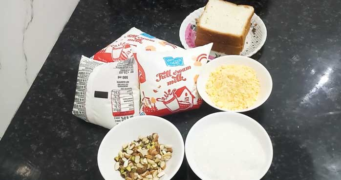 ingredients for Bread Custurd