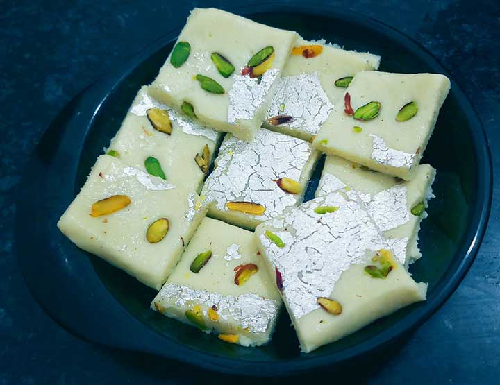 milk powder mithai recipe