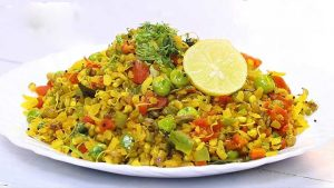Sprouts Poha Recipe