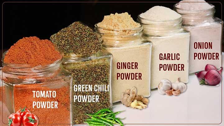 5 types of powder