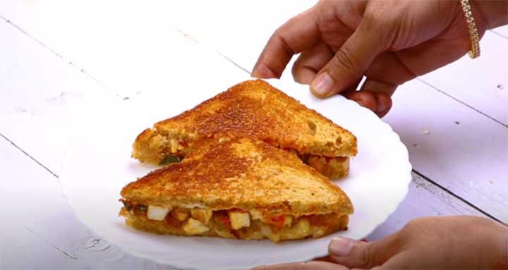 cheese paneer sandwich recipe