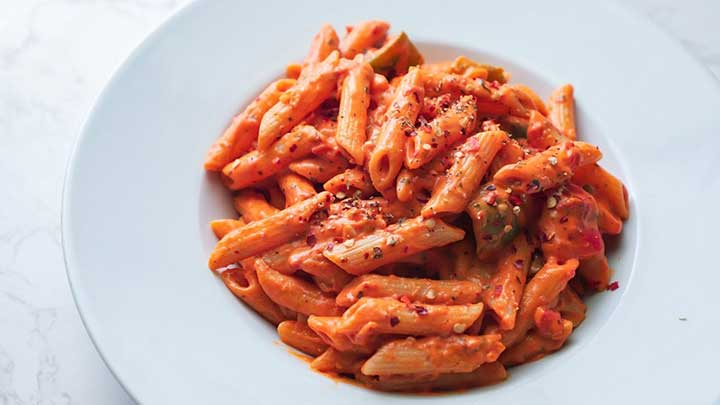 pink sauce pasta recipe