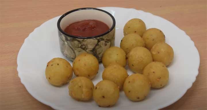 poha balls snacks
