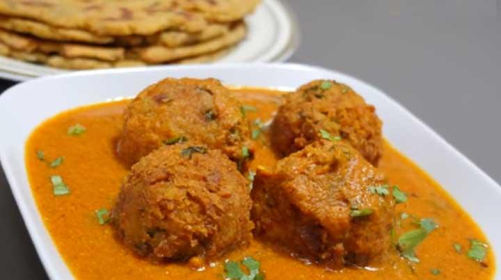 soyabean kofta curry