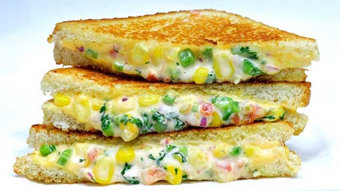 cheese corn sandwich