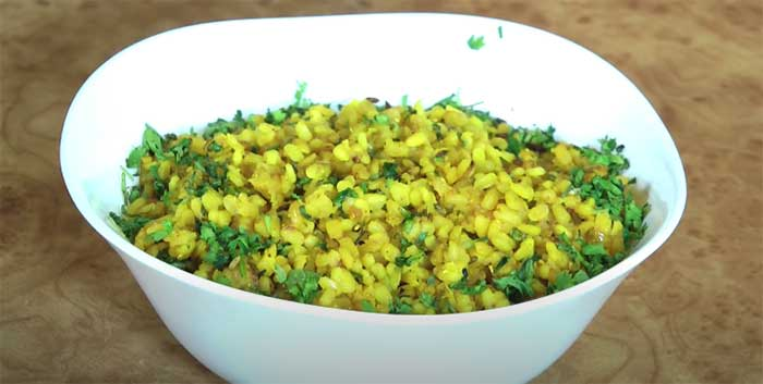dry moong dal recipe