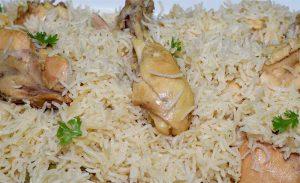 white chicken pulao