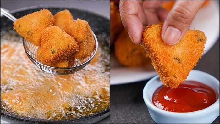 potato cheese triangle snacks