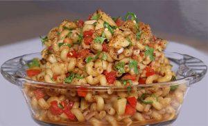 spicy pasta chaat