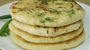 cheesy butter garlic naan