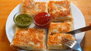 cheesy veg crepes