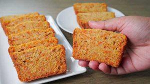 eggless carrot pound cake