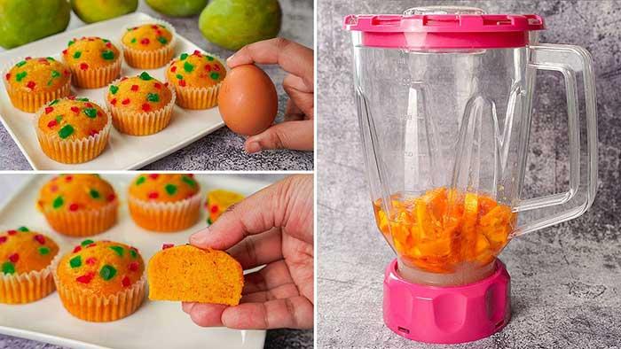 mango cup cake