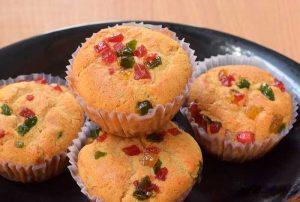wheat flour tutti frutti cupcake