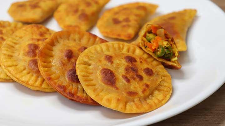 veggie stuffed snacks