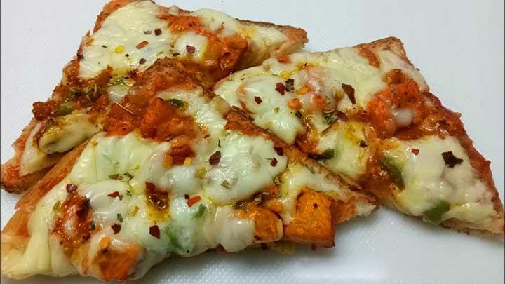 chicken bread pizza