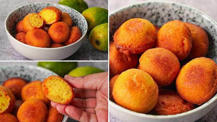 fried mango cake balls