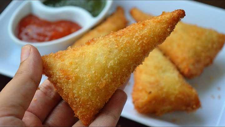 bread cone samosa