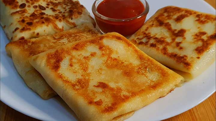 cheese chicken crepes