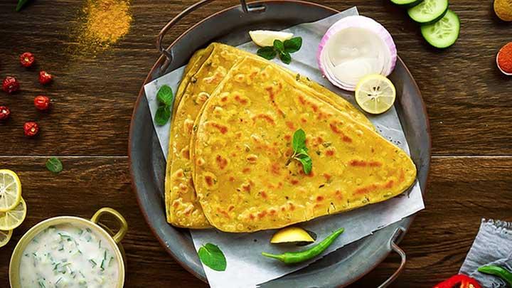 mint paratha recipe